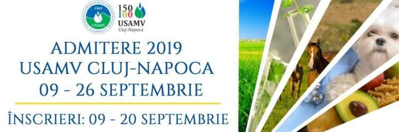 USAMV Cluj-Napoca scoate la concurs, în sesiunea de toamnă, 552 de locuri la licenţă şi 245 la masterat